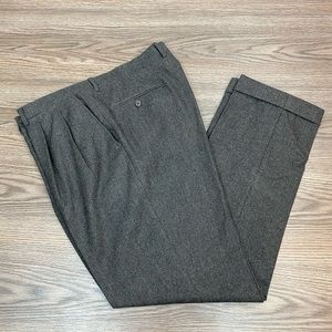 Luciano Barbera Grey & Blue Tweed Pants 34x30